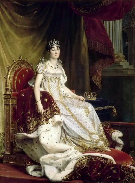 Baron François Gérard -- Joséphine de Beauharnais, Empress, in Imperial Costume Seated on her Throne. Château de Versailles