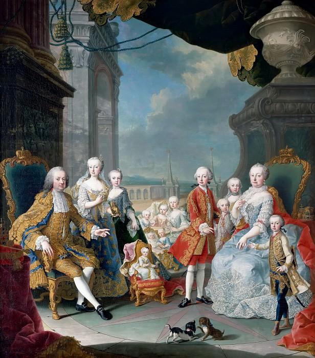 Anonymous Dutch painter after Martin van Meytens II -- Francis I, Maria-Theresa and their children. Château de Versailles