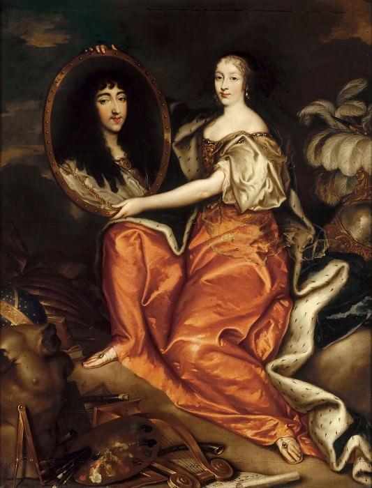 Antoine Mathieu -- Henrietta-Anne of England holding a portrait of the Duc d'Orleans. Château de Versailles