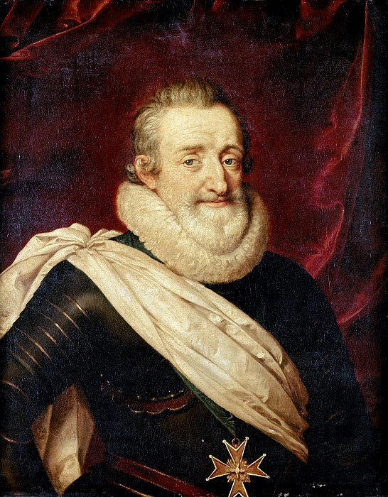School of Frans Pourbus the younger -- Henry IV, King of France and Navarre (1553-1610). Château de Versailles