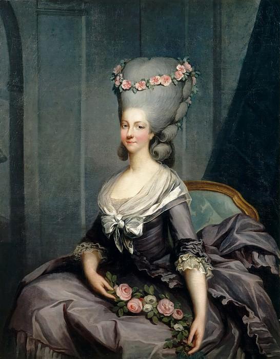 Antoine-François Callet -- Portrait of Marie Louise of Savoy (Marie Thérèse Louise de Savoie-Carignan, Princesse de Lamballe). Château de Versailles