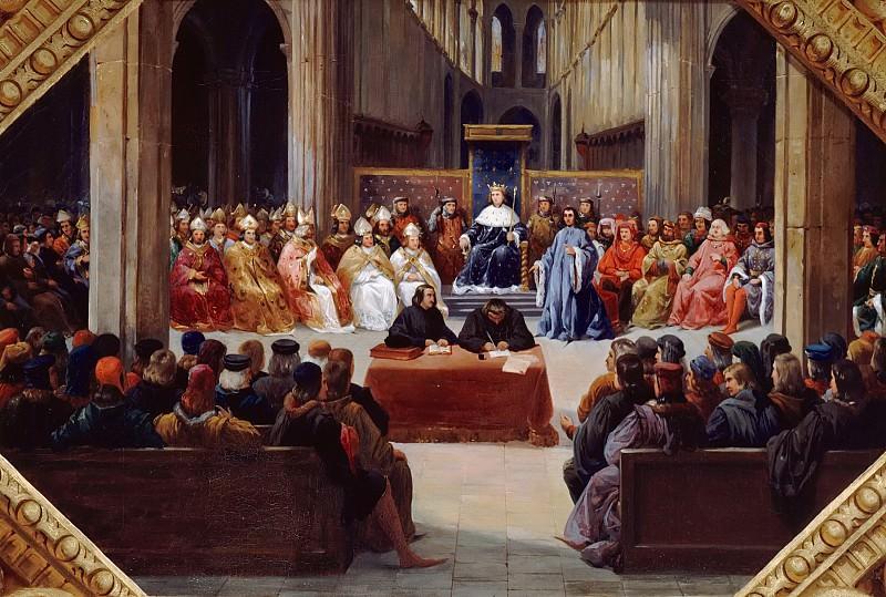 Jean Alaux -- Meeting of the Estates-General in Paris, April 10, 1302 (États généraux de Paris). Château de Versailles