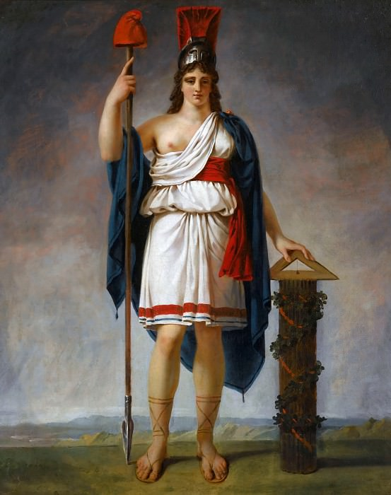 Attributed to Antoine-Jean Gros -- Allegorical Figure of The Republic. Château de Versailles