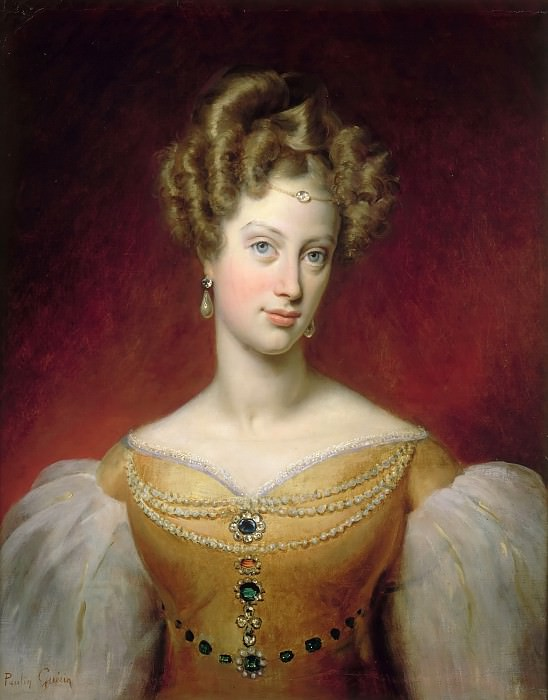 Paulin Guérin -- Marie-Caroline, Princess de Bourbon-Sicile, Duchess de Berry. Château de Versailles