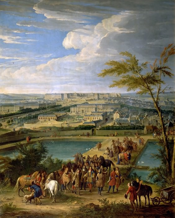 Jean-Baptiste Martin the elder -- View of the city and the chateau of Versailles, seen from Montboron hill. Château de Versailles