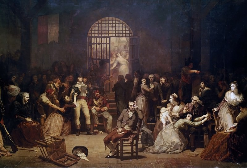 Charles Louis Lucien Muller -- Roll call of the last victims of the Reign of Terror at the Saint-Lazare Prison, 7-9 Thermidor 1794. Château de Versailles