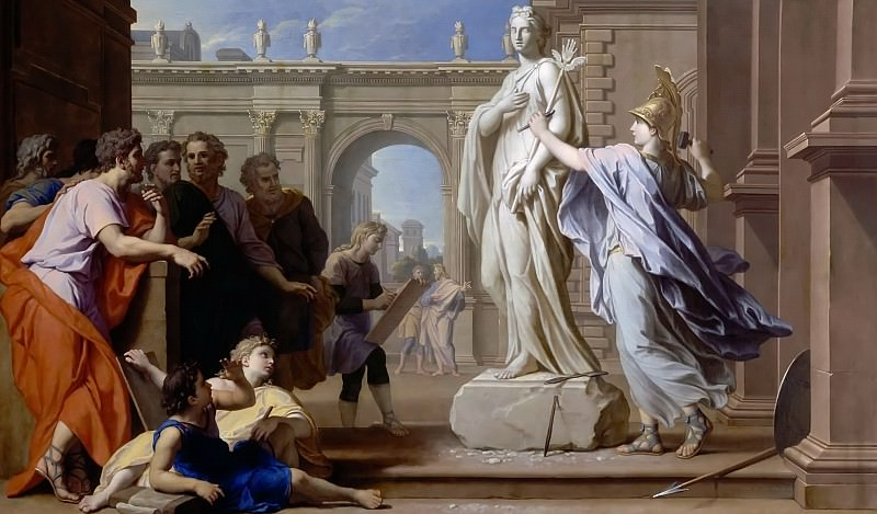 René-Antoine Houasse -- Minerva Teaches the Art of Sculpture to the People of Rhodes. Château de Versailles