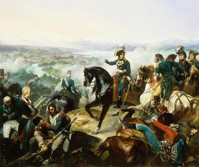 François Bouchot -- The Battle of Zurich, September 25, 1799. Château de Versailles