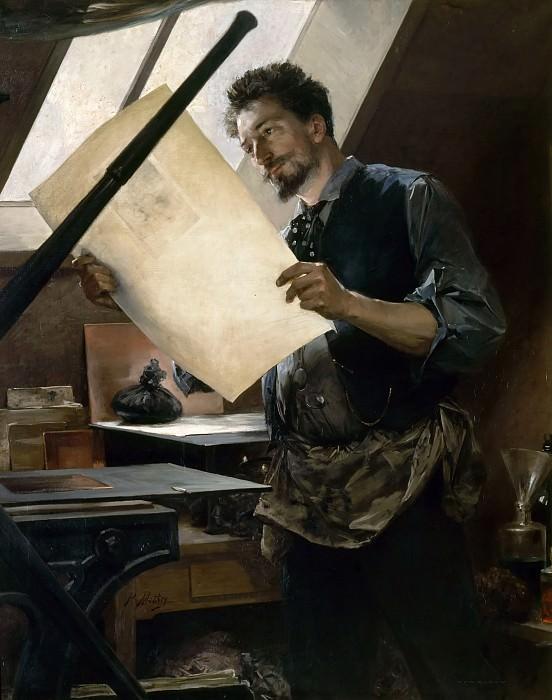 Paul Mathey -- Felicien Rops in his studio (1844-1929). Château de Versailles