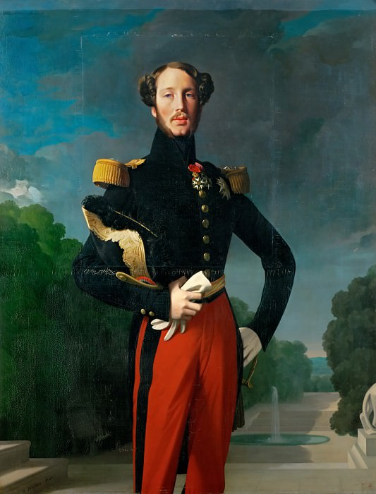 Ingres, Jean Auguste Dominique -- Ferdinand Philippe Louis,duc d'Orleans (1810-1842) Eldest son of King Louis-Philippe of France and his wife Marie-Amelie;Lieutenant-general. Canvas. Château de Versailles