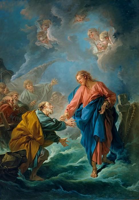 Франсуа Буше -- Святой Петр, пробующий идти по воде. Версальский дворец