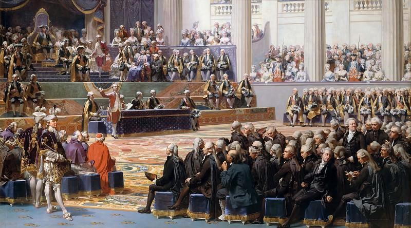 Огюст Кудер -- Открытие Генеральных Штатов 5 мая 1789. Версальский дворец