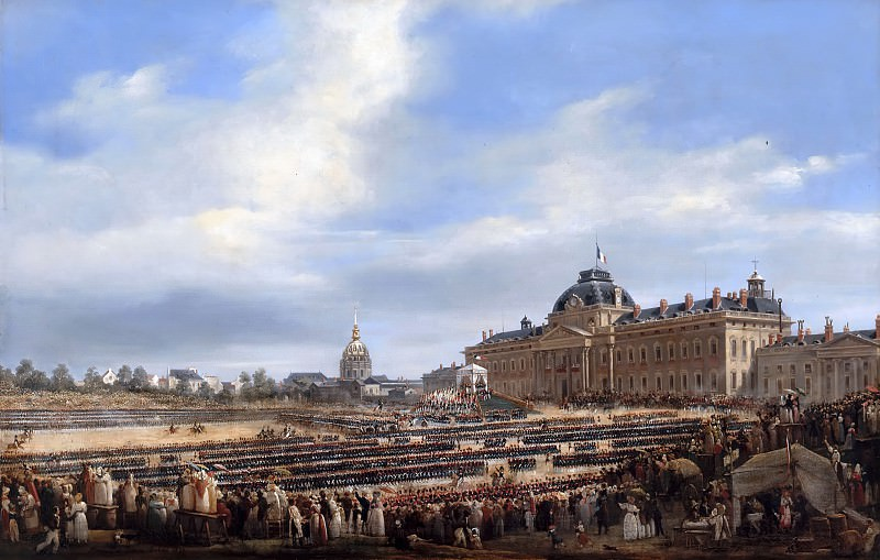 François Dubois -- Distribution of flags to the National Guard, 29 August 1830. Château de Versailles