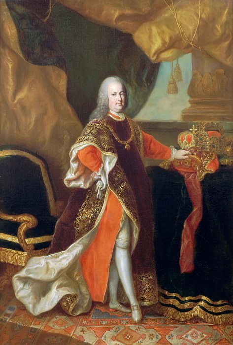 Attributed to Anton von Maron -- Portrait of Francis I, Emperor of the Holy German Empire, King of bohemia and Hungary, dressed in the Order of the Golden Fleece. Château de Versailles