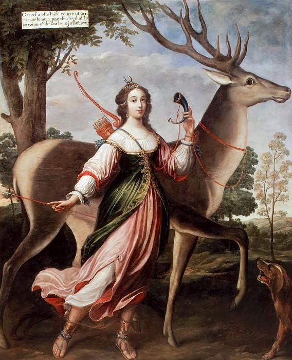 Attributed to Claude Deruet -- Marie de Rohan-Montbazon, Duchess of Luynes, later of Chevreuse (1600-1679). Château de Versailles