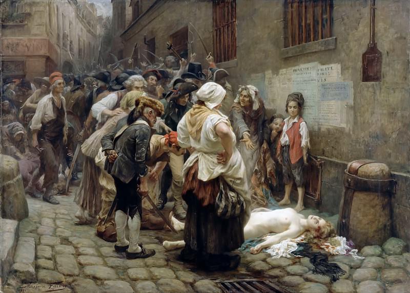 Léon Maxime Faivre -- Death of the Princess de Lamballe, Paris, September 3, 1792. Château de Versailles