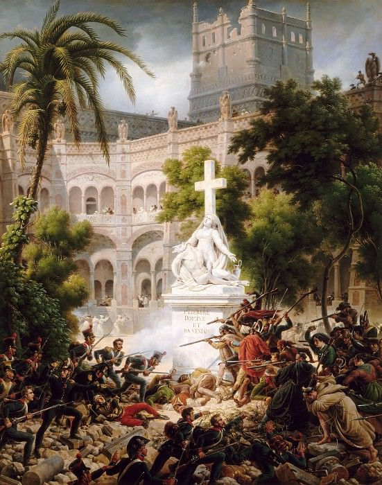 Louis Francois Lejeune -- Episode from the Seige of Saragossa: Assault on San Engracia, 8 February 1809. Château de Versailles