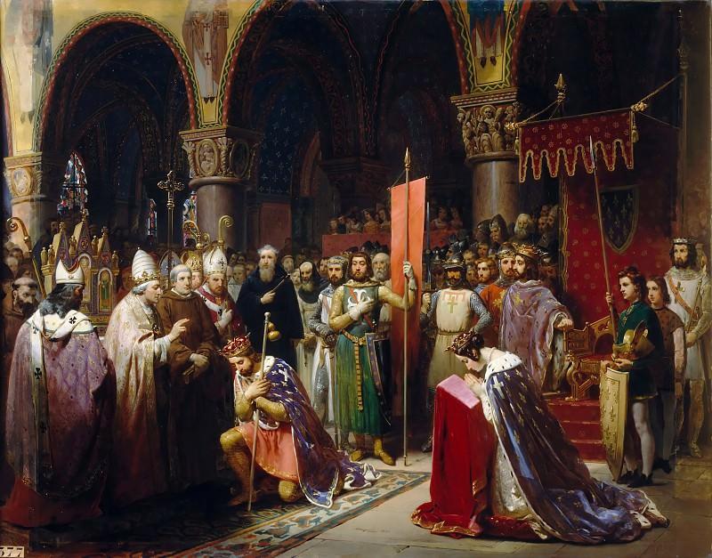 Jean-Baptiste Mauzaisse -- Louis VII takes the standard at Saint-Denis, 1147. Château de Versailles