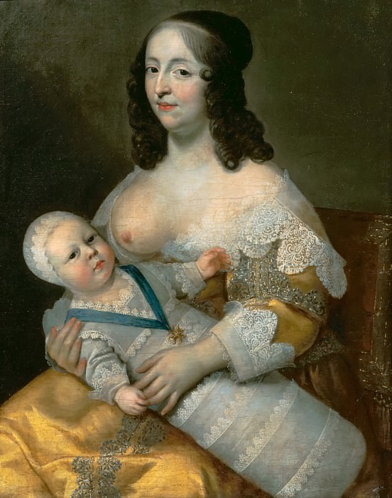 Charles Beaubrun and Henri Beaubrun the Younger -- Louis XIV and his wet-nurse Mme Longuet de la Giraudière. Château de Versailles