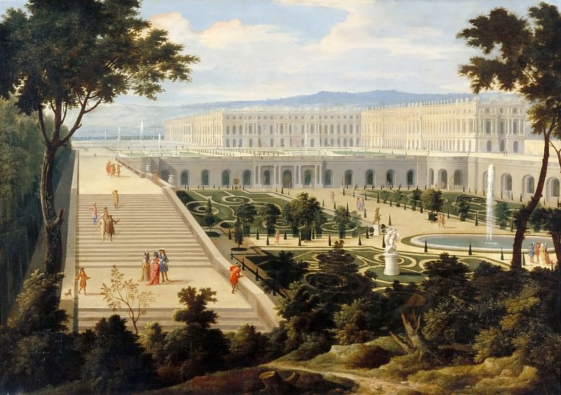 Attributed to Jean-Baptiste Martin the elder -- The Orangerie at Versailles. Château de Versailles