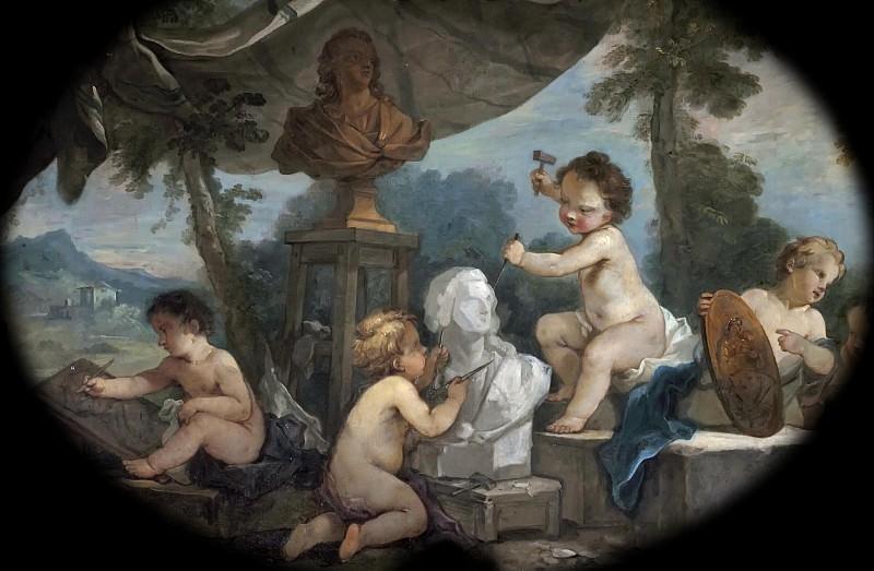 Natoire, Charles-Joseph -- La Sculpture. Château de Versailles