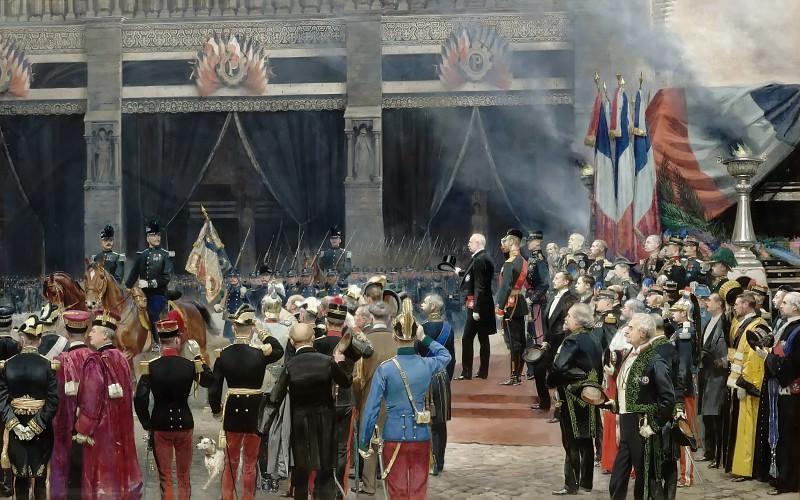 Jean Baptiste Edouard Detaille -- Funeral of Pasteur, 5 October 1895. Château de Versailles