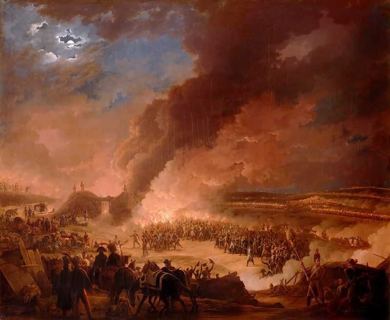Louis Albert Guislain Baclère d'Albe -- Napoléon I visiting the bivouacs of the army at ten o'clock in the evening, the day before the Battle of Austerlitz on December 1, 1805. Château de Versailles