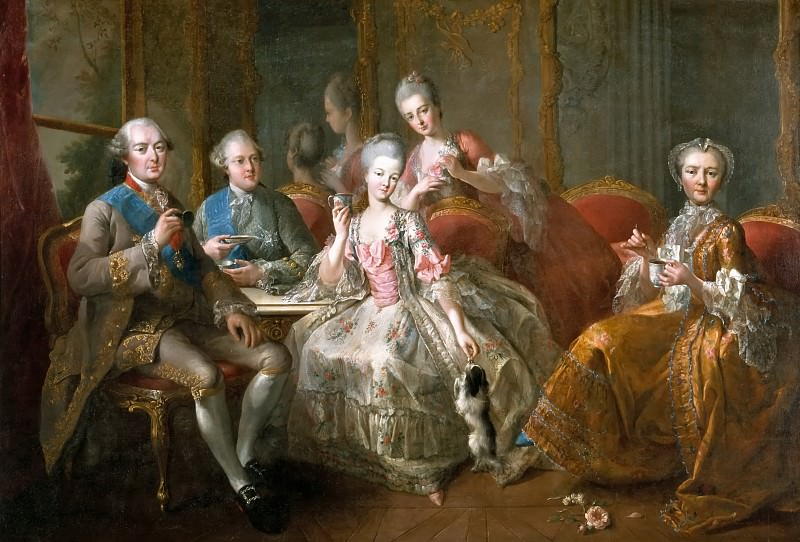 Jean-Baptiste Charpentier the Elder -- Family of the Duc de Penthièvre (Cup of Chocolate). Château de Versailles