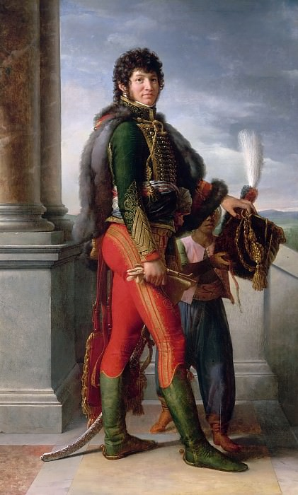 Baron François Gérard -- Joachim Murat, Grand Duke of Cleves and Berg, Maréchal de France, in a Hussar Uniform. Château de Versailles