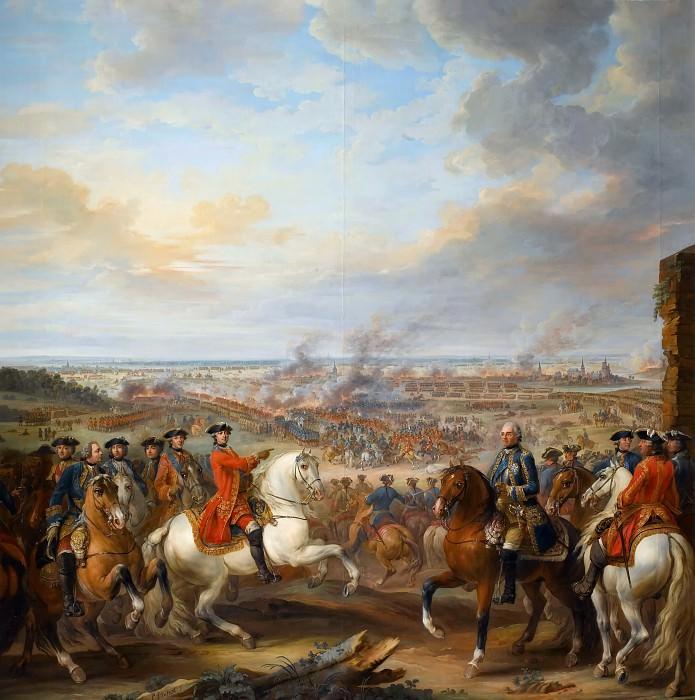 Пьер Ленфан -- Битва при Фонтенуа 11 мая 1745 года. Версальский дворец