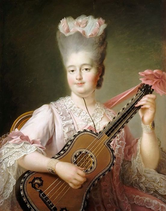 François Hubert Drouais -- Marie-Clotilde-Xaviere of France, called Madame Clotilde, Queen of Sardinia (1759-1802). Château de Versailles