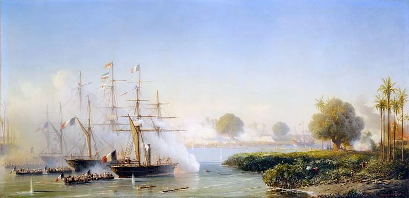 Antoine Léon Morel-Fatio -- Taking of the citadel at Saigon, 17 February 1859. Château de Versailles