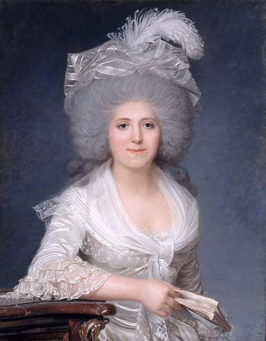 Joseph Boze -- Portrait of Jeanne-Louise-Henriette Genet Campan. Château de Versailles