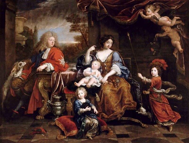 Pierre Mignard I -- The Family of the Grand Dauphin. Château de Versailles