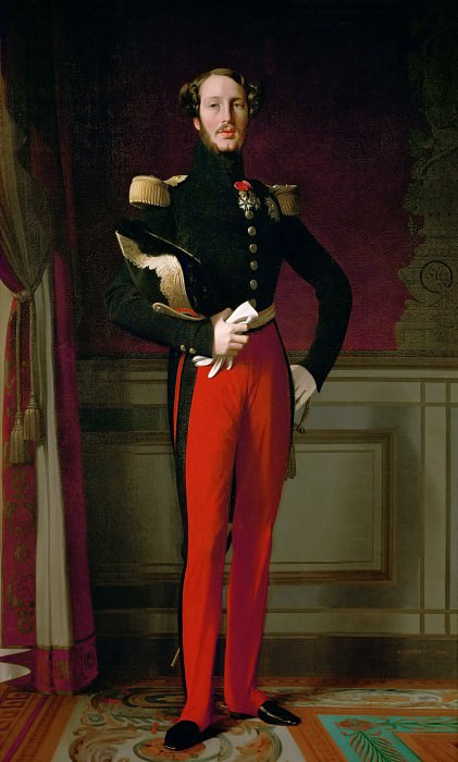 Ingres, Jean Auguste Dominique -- Ferdinand Philippe, Duc d'Orleans, son of Louis-Philippe, king of the French. Oil on canvas. Château de Versailles