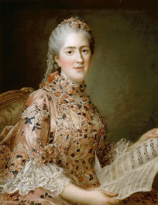 Sophie of France, called Madame Sophie (1744-1782). Francois-Hubert Drouais