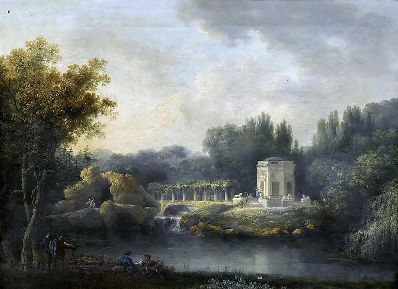 Claude-Louis Chatelet -- Le Rocher et le Belvédère à Versailles. Château de Versailles