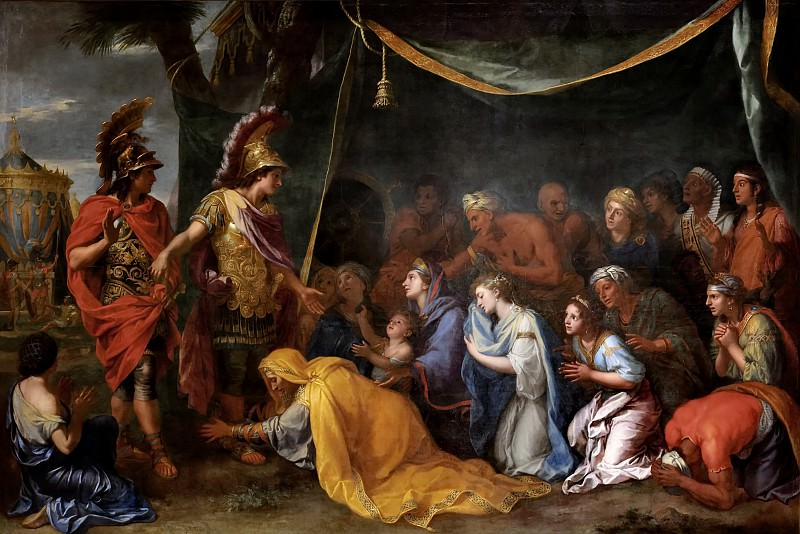 Charles Le Brun -- Family of Darius at the Feet of Alexander (Tent of Darius). Château de Versailles