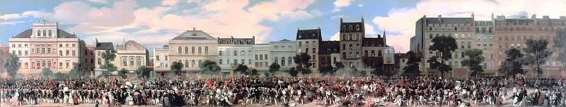 Eugène Louis Lami -- Review of the National Guard by Louis-Philippe on the boulevard du Temple, July 28, 1835. Château de Versailles