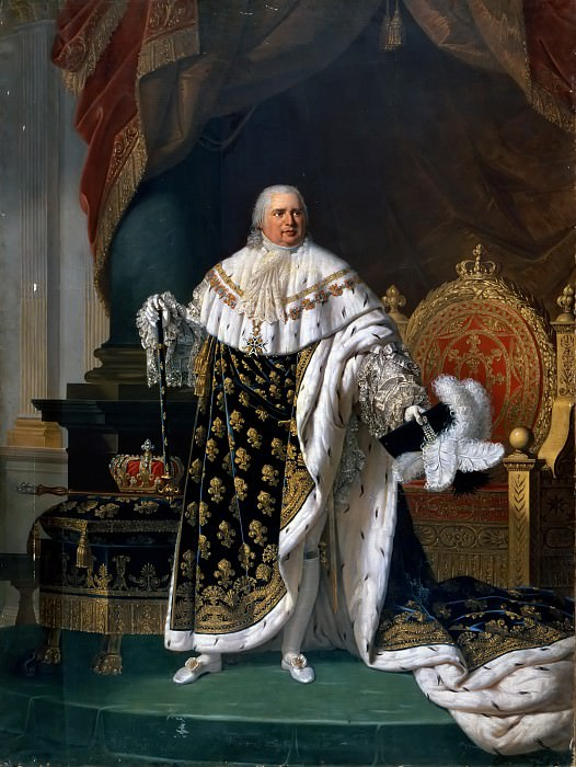 Robert Lefèvre -- Louis XVIII, King of France and of Navarre (1755-1824). Château de Versailles