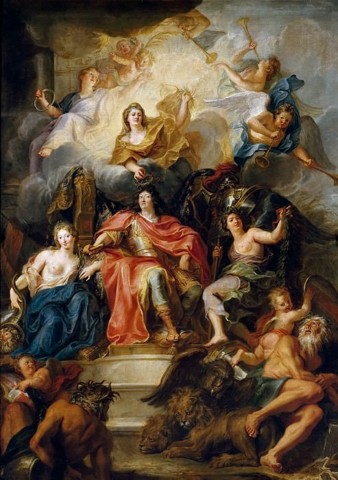 Antoine Coypel -- Allegory of the Glory of Louis XIV. Château de Versailles
