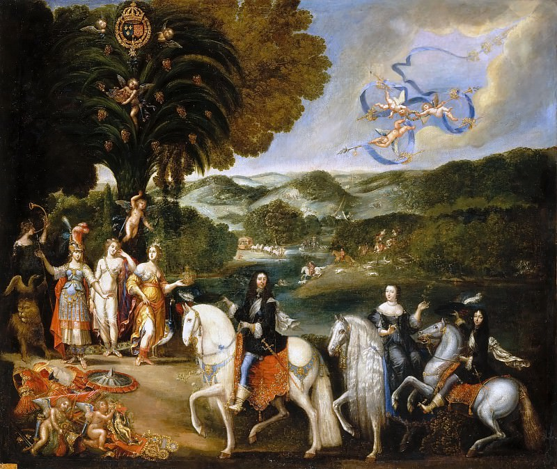 Attributed to Claude Deruet -- Allegory of the Treaty of the Peace of the Pyrenees. Château de Versailles