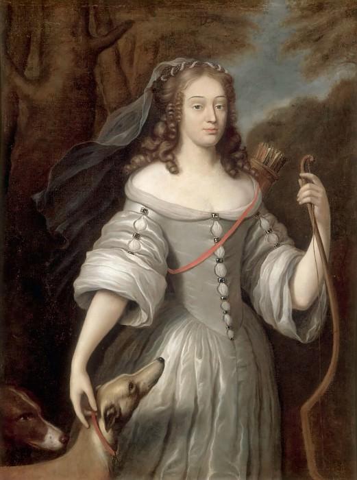 Claude Lefebvre -- Louise-Françoise de La Baume Le Blanc, Duchesse de La Vallière et de Vaujours, Portrayed as Diana. Château de Versailles