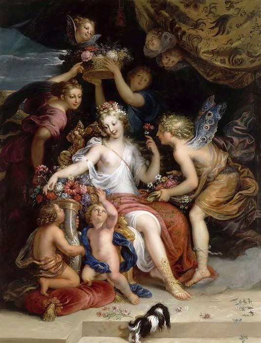 Michel Corneille the younger -- Zephyr and Flora. Château de Versailles