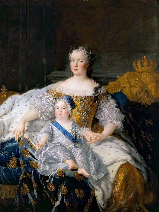 Alexis-Simon Belle -- Marie Leszczynska, reine de France, et le Dauphin. Château de Versailles