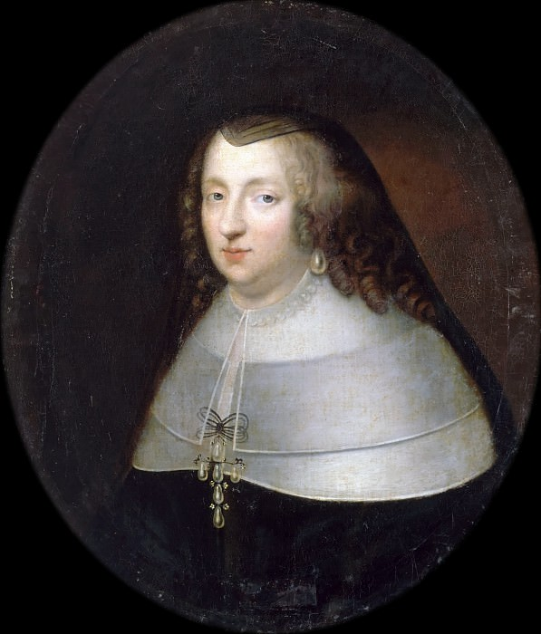 Charles Beaubrun, Henri Beaubrun the Younger -- Anne, Queen of France, consort of Louis XIII, in Widow's Habit (Anne of Austria). Château de Versailles