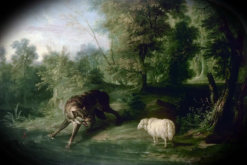 Jean-Baptiste Oudry -- The wolf and the lamb. Château de Versailles