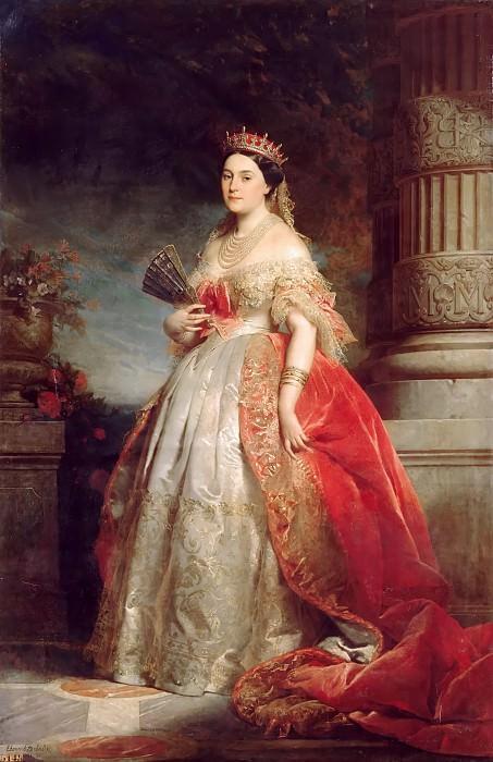 Edouard Dubufe -- Mathilde-Laetitia-Wilhelmine Bonaparte, called Princess Mathilde (1820-1904). Château de Versailles