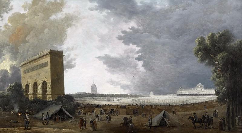 Robert, Hubert -- Fête de la Fédération au Champ de Mars, 14 juillet 1790. Château de Versailles