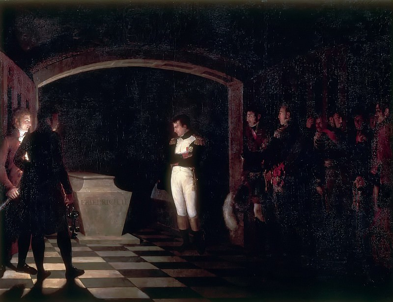 Marie Nicolas Ponce-Camus -- Napoleon at the Tomb of Frederick the Great at Potsdam, 25 October 1806. Château de Versailles